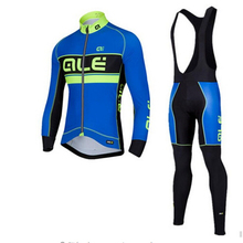 Blue ALE Cycling Jersey Set 2017 Pro Team Ropa Ciclismo Clothing Bib Shorts Breathable Cycling Sets Bike MTB Maillot Cycling