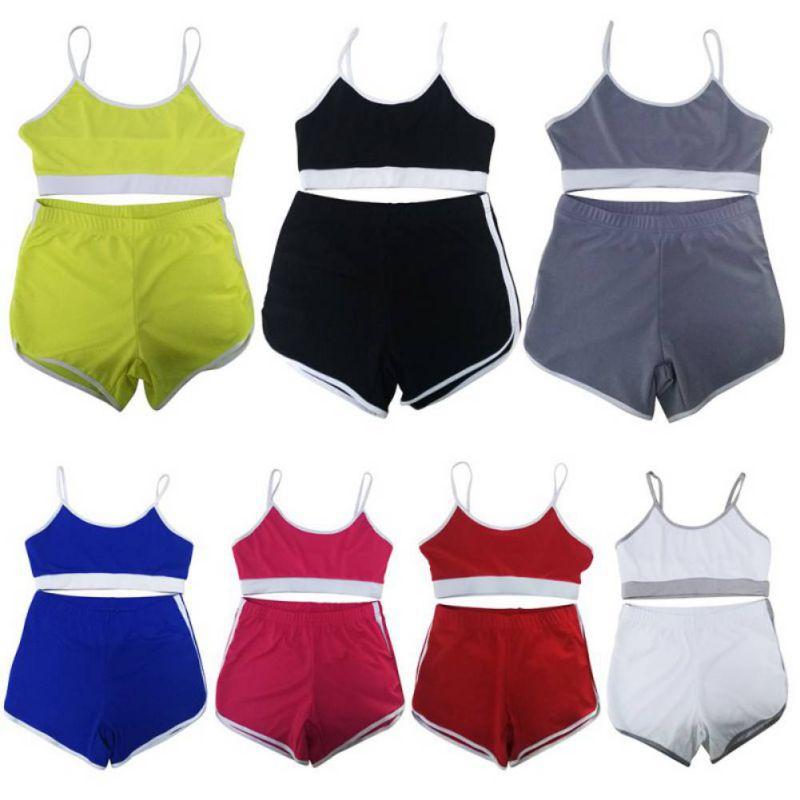 Sport Suit Tracksuit Bra+Short Sportswear 1