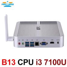 7th Gen Intel I3 7100U Fanless NUC Small PC With VGA HDMI Two Display Support WIFI300M