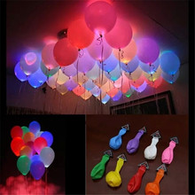 Wholesale 5pc Led Lamp Helium Balloon Party Festival Ballons Birthday Wedding Decoration Mariage Boda Wedding Favors and Gifts.B