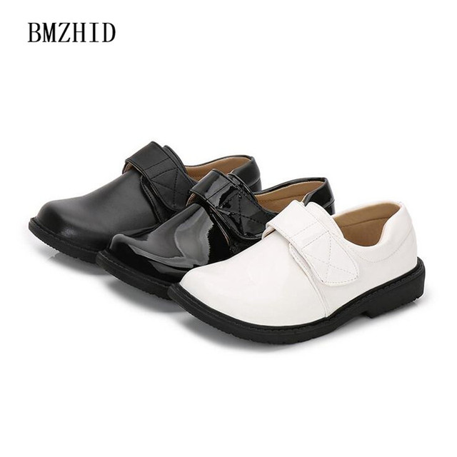 Blackwhite Boy Wedding Leather Shoes 2018 New Children School