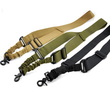 Tactical Hunting gun Single Point Adjustable  Bungee Rifle Gun Sling System Strap Hook shotgun Accessories for sport bags