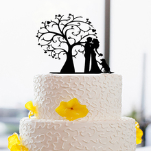 Bride & Groom Love Modern Wedding Decoration Toppers Custom