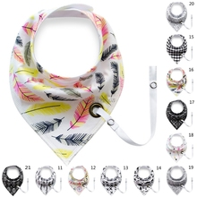 Baby Infant Toddler Cotton Triangle Bib Saliva Towel Head Scarf Pacifier Clip Baby Gift(China)