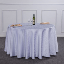 1PC Multi Size Hotel Round Dinner Table Cloth White For Wedding Party Decor Rectangle Polyester Tablecloth Washable For Home