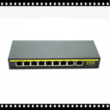 HKES 8 Port 100Mbps IEEE802.3af POE Switch/Injector Power over Ethernet Network Switch for IP Camera VoIP Phone AP devices