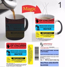 Prescription Mug Pill Pharmacy mugs coffee mug disappearing heat reveal cup cold hot heat changing color magic mug tea cups