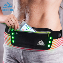 AONIJIE Outdoor Running Waist Bag Waterproof Mobile Phone Holder Jogging Belt Belly Bag Women Fitness Bag Lady Sport Accessories(China)