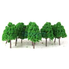 25pcs Plastic Model Trees N Scale Train Layout Wargame Scenery Diorama 1:150(China)