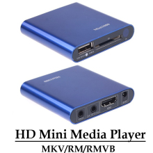 Multimedia HD 1080P Mini Media Player HDMI CVBS YPbPr Ouput MKV/RM/RMVB H.264 Player Support USB Disk SD/SDHC Card