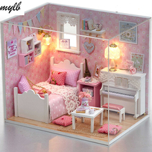 mylb Doll House Furniture Diy Miniature Dust Cover 3D Wooden Miniaturas Dollhouse Toys for Christmas