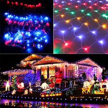 3*2M 200 LED Net String Light Christmas Wedding Garden Party Waterproof Fairy Curtain Lights with 8 Function Controller EU Plug(China)