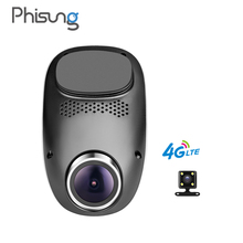 Phisung T1 4G dashcam Android GPS ADAS dash camera dual lens camara automovil Night Vision auto camera mini hidden car dvr wifi(China)