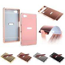 Buy Sony Z5 Compact E5823 E5803 Case Plating Metal Frame Mirror Back Cover Hard Case Sony Xperia Z5 Compact Z5 Mini for $4.74 in AliExpress store