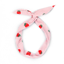 Fashion Female Headbands Lovely Comfortable Rabbit Ears Strawberrys Pattern Hairbands Multicolor Wash Face Iron Wire Hairbands