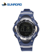 SUNROAD Watch Men Altimeter Multifunction Watches Compass Pedometer World Time Backlight LED Digital Alarm Relogio Masculino