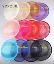 12 colors for select 25CM SINAMAY fascinator base for making fascinators kentucky party hats Millinery material cocktail hats
