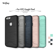 Wolfsay Case For Google Pixel Cover Shockproof Brushed PC Rubber Card Slot Case For Google Pixel Case For Google Pixel 5 inch [