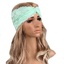 8 Color Fashion Women Handmade Crochet Headband Turban Lady Warm Knit Hairband Exercise Lace Head wrap Accessories Jan13