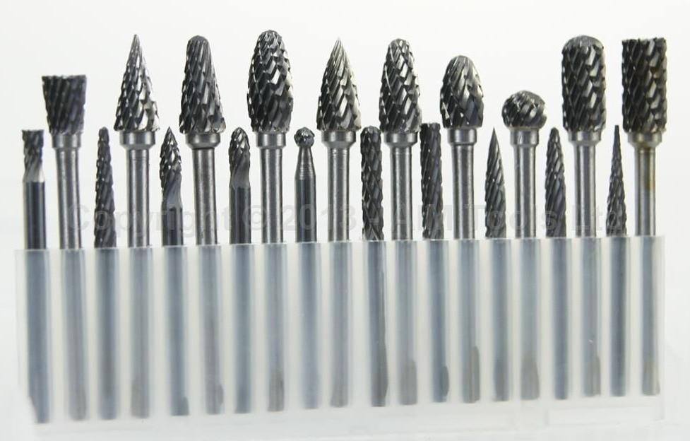 20PCs Die Grinder Carbide Burr Drill Grinding Head 3MM Carving Bit<br>