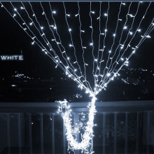 led curtain string light 110v 4.5mx3m 300led 8 model flashlight christmas garland icicle strip holiday wedding decorative light