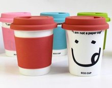 Free shipping 100pcs/lot High quality ceramic mug cup,i am not a paper cup office water cup,double-wall pp covering cup
