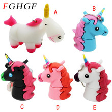 FGHGF Cartoon white Unicorn minion usb flash drive real capacity cute horse pen drive 4G 8G 16G 32G flash memory U dis