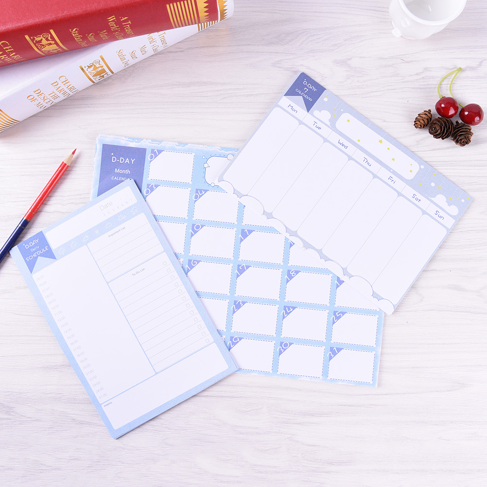 20 Sheets Month calendar Week plan Daily Schedule TO DO LIST MEMO Stationery office supplies notebooks planners notepad