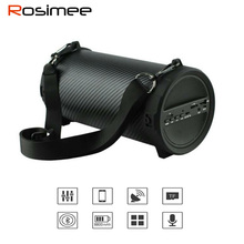 Rosimee Outdoor Bluetooth Speaker 8800mAh Power Bank 89mm Big Bass Wireless Portable Subwoofer Bike Car Speakers with FM Mic(China)