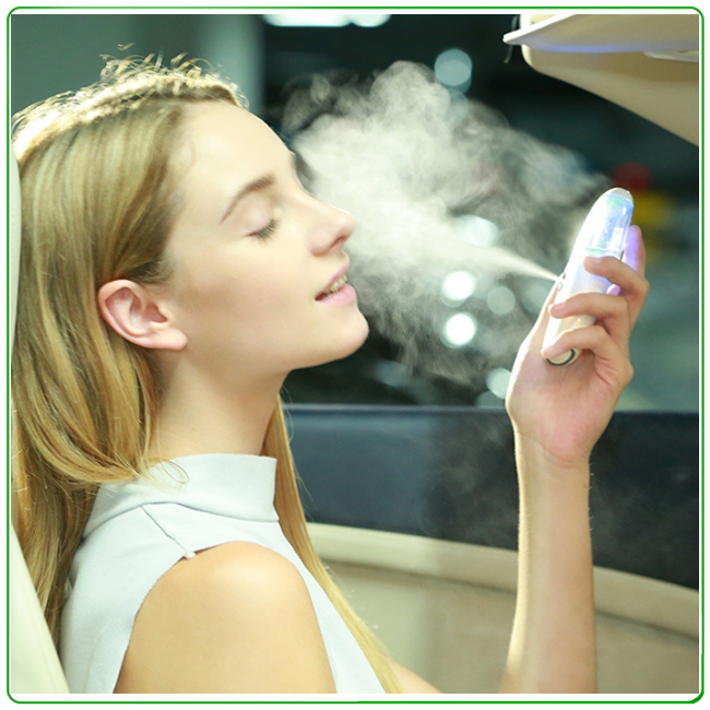 40ml Rechargeable Nano Handy Cool Mist Spray Atomization Facial Mister Eyelash Extensions Humectant Steamer Moisturizing Eyes <br>