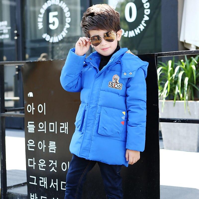 New Winter Jackets For Boys Fashion Boy Thicken  youth Children Down Coats Outerwear Warm Tops Clothes Kids ClothingÎäåæäà è àêñåññóàðû<br><br>