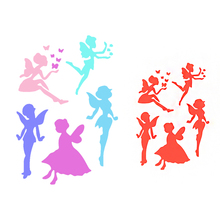 2Pcs DIY Craft Angel Layering Stencils For Walls Painting Scrapbooking Stamps Album Embossing Paper Cards