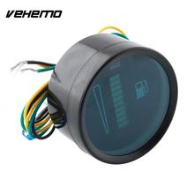 "Vehemo Universal Car Motor 2"" 52mm Fuel Meter LED Digital Display 12V System Fuel Gauge(China)"