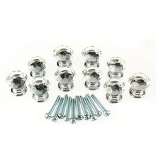 LHLL-10 Pcs 20mm Crystal Glass Clear Cabinet Knob Drawer Pull Handle Kitchen Door Wardrobe Hardware(China)