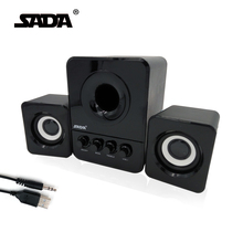 Usb Multimedia Stereo Computer Speakers 2.1 For PC Desktop Laptop, External Bass Deep Woofer Box 3.5mm Speaker For Computer(China)