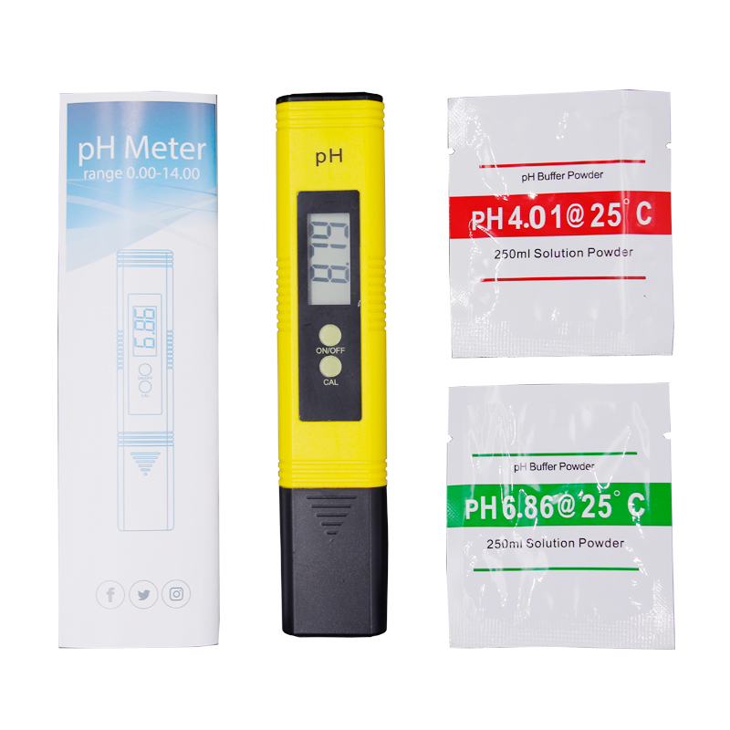By DHL Fedex 100pcs PH Meter Digital Tester automatic calibration+ Water Quality Purity TDS Tester with Titanium alloy probe 16% 4