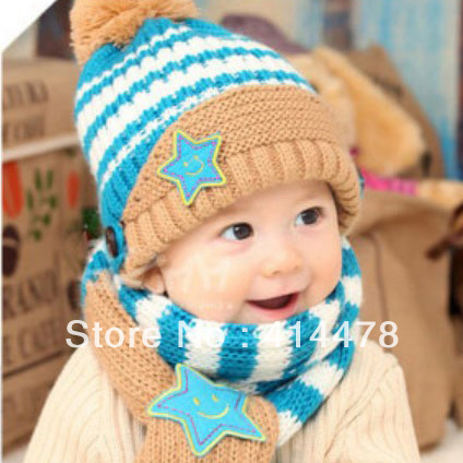 Attractive Child Scarf Knit Pattern Composition Easy Scarf