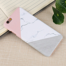 SCCJGL Hard Case For iphone 6 Case Marble Hit Color Splicing Together Contrast Color Back For iphone 7 7 plus Cover(China)