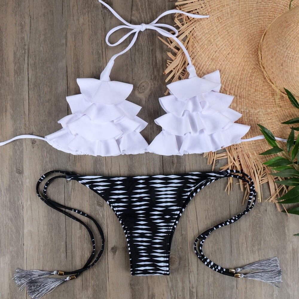 NEW Brazilian Bikini Set Sexy Push Up Swimwear Women's Swimsuit Bathing Suits Swimming Suit For Women Maillot De Bain E045 6