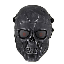 Huntting Cover Outdoor Equipment Full Face Skull Airsoft Paintball Mask Outdoor Hunting Cs War Game Tactical Protective Mask(China)