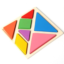 Jigsaw Puzzle Educational Wooden Toys Developmental Toy Large Wooden Tangram Brain Teaser Puzzles For Children