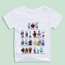 Children Game Undertale Sans T Shirts Kid Funny Design Printing Casual Top Tees Customized Boy and Girl Clothing