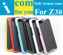 Drop resistance High impact Soft Rubber TPU Hybrid Cover Armor case for BlackBerry Z30