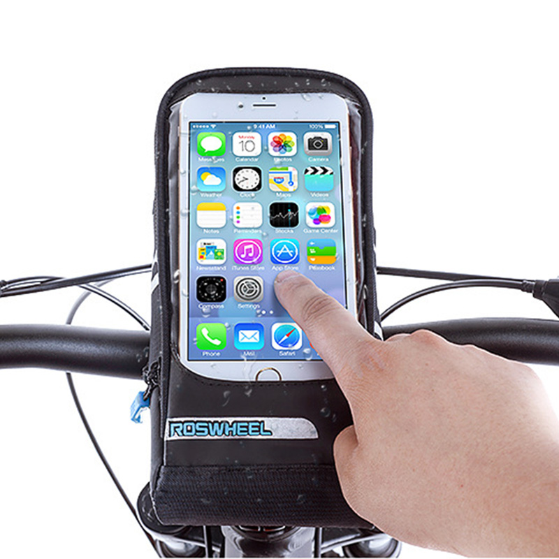 Bicycle Waterproof Front Tube Bag Cycling Frame PVC 5.5 inch Phone Touch Screen MTB Road Bike Accessories Handlebar Bags BG0087 (3)
