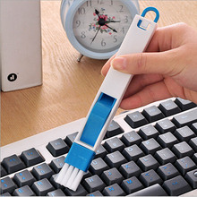 multipurpose computer keyboard desktop cleaning brush kitchen gadgets tools door recess dustpan crevice brush blue black color(China)