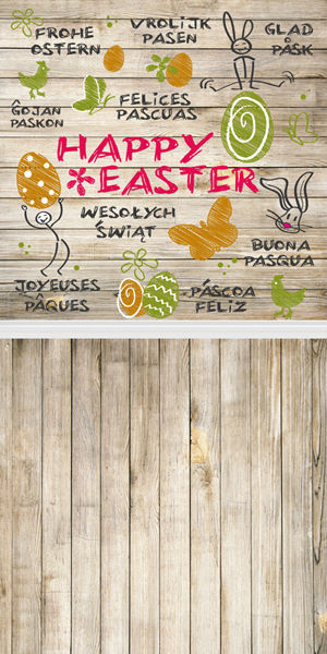 5X10ft Customize vinyl photography backdrop newborn easter wood computer print background for photo studio F-036<br>