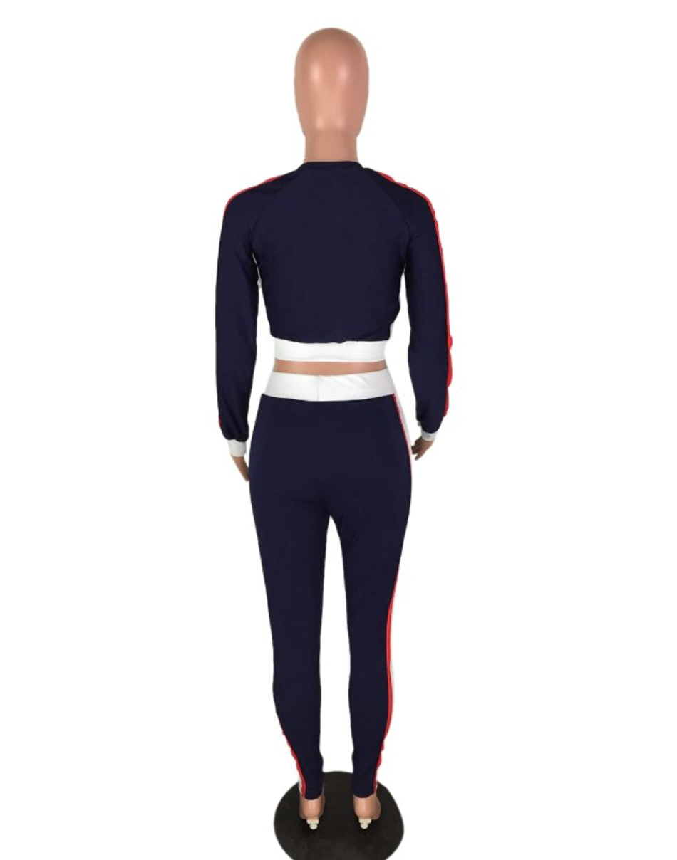 Two Piece Set 2017 Fashion Autumn Tracksuit Women Full Sweat Suits Long Sleeve Top + Pants 2 Piece Set Women 09