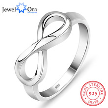 Genuine 925 Brand Rings For Women Knot Ring Sterling Silver S925 Stamped Silver Infinity Ring Best Gift(JewelOra Ri101995)(China)