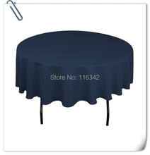 "Retail Wholesale polyester 70"" Round 20pcs Navy Blue Tablecloth Wedding Party Banquet Table Decorations Free Shipping(China)"