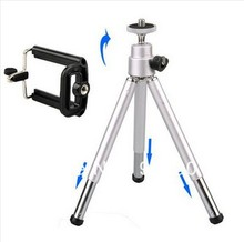 Free shipping + tracking number Hot Sale Mini Tripod Stand for Mobile Cell Phone Camera for iPhone Samsung(China)